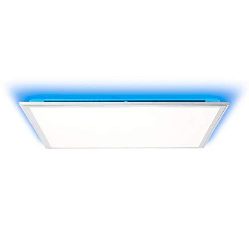 BRILLIANT lamp Alissa LED plafondpaneel 60x60cm zilver/wit |1x 42W LED geïntegreerd (Samsung chip), (3300lm, 2700-6200K) |Schaal A ++ tot E |Oneindig dimbaar