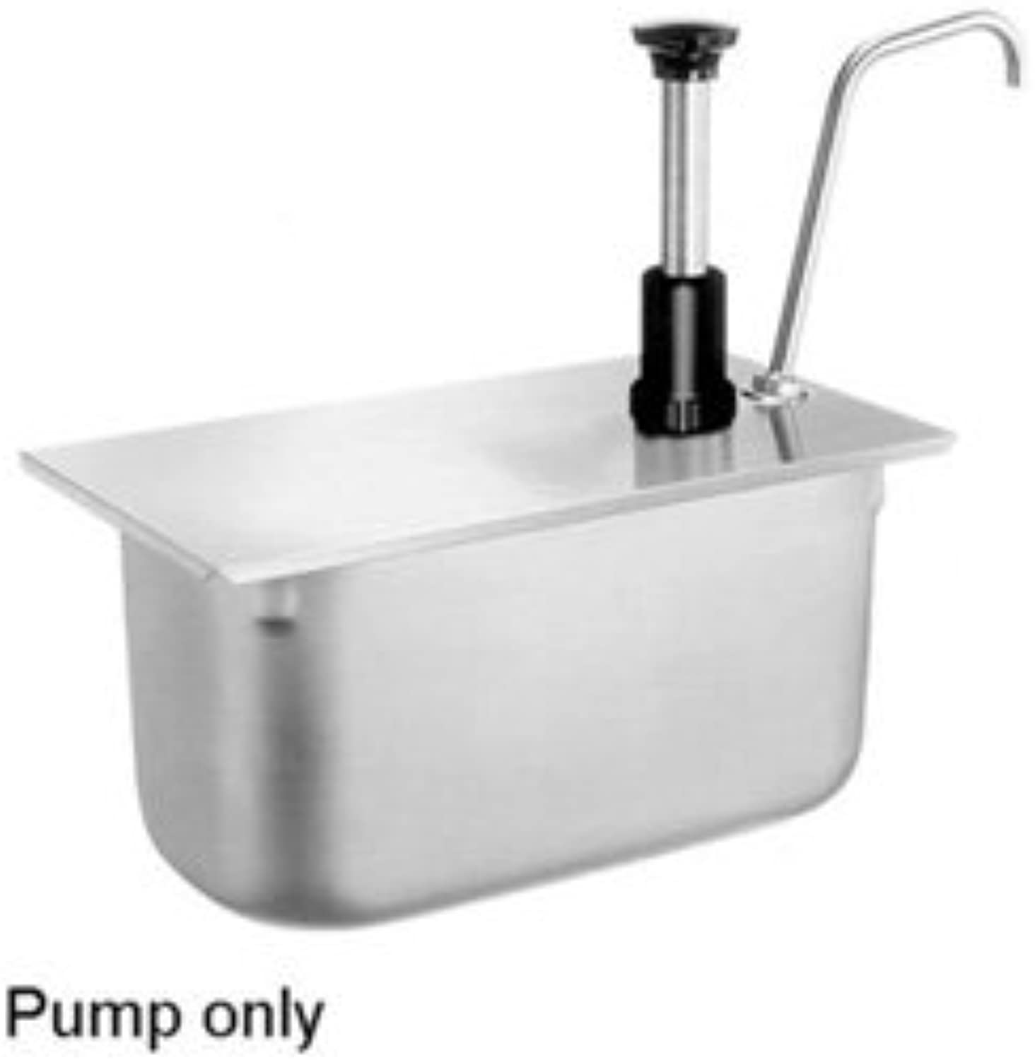 Server Products CP-1 4-83420 Food Pan Pump for 1 4-Size Food Pan, 150 mm, 1 oz. Full Portion, Dispenses Thick and Particulate Consistency Condiments, Stainless Steel