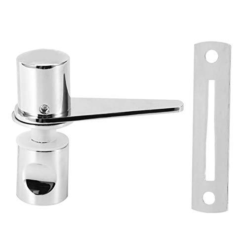XiangXin Pestillo para puerta de cristal, cerradura de puerta corredera, práctico y resistente, de cobre + objetos domésticos de acero inoxidable 304 para puertas correderas de baño