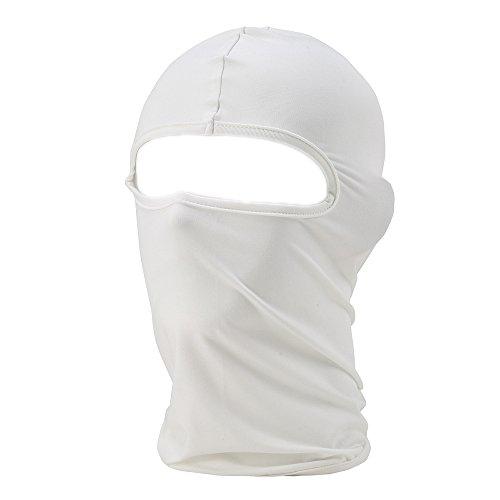 UTOVME Multifunktionen Gesichtsmaske Sport Balaclava Maske Warm Fahrrad Ski Snowboard Weiss
