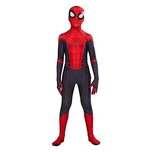FINDPITAYA Déguisement SpiderSuit Far from Home Enfant SpiderOneies Cosplay Costume avec Masque (XL 130-140)