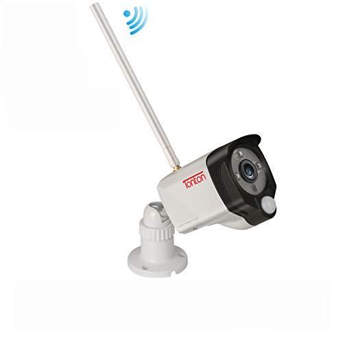 (3 MP+LED Strahler) Tonton 3 MP Full HD Wireless Überwachungskamera Außen mit LED Strahler Funk Audio Kamera PIR Bewegungsmelder für Innen Außen, IP Wlan Kamera Alternative Komaptibel mit Tonton System