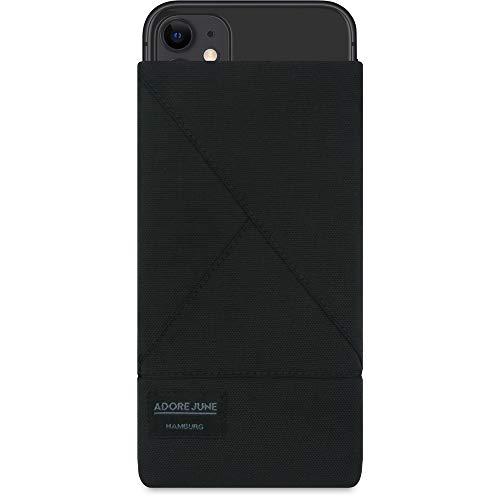 Adore June Triangle Negro Funda Compatible con Apple iPhone 11. con Efecto Limpiador de Pantalla, Producido en Europa