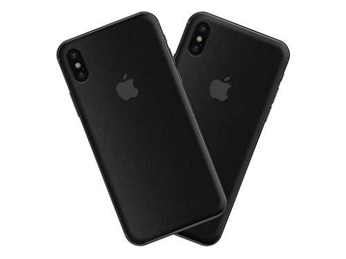 SkinUpDesign Kratzfester Aufkleber für iPhone X XS 10 [2 Stück] Glasrückseite Rückseite kompatibel mit jeder Hülle oder Case Selbstklebende Skin Anti-Rutsch Anti-Staub Handy-Folie Ultra dünn (BM)