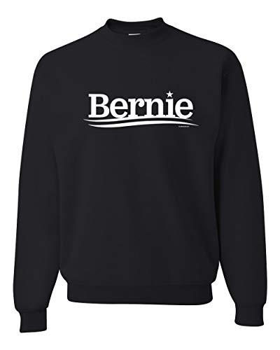 Wild Bobby Bernie Sanders for President 2020 White Campaign Logo | Mens Political Crewneck Graphic Sweatshirt, Black, Large