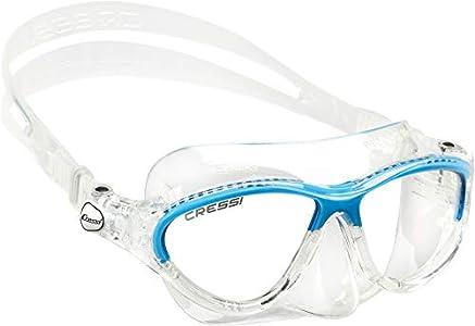Cressi Kids Moon, Gafas de Snorkel Buceo para Niños de 7-15 anos, Azul
