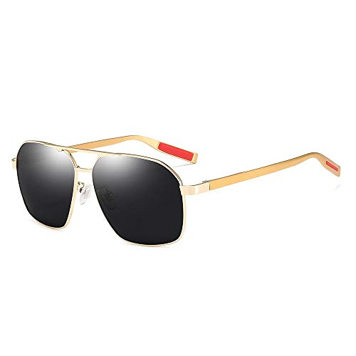 TYXL Sunglasses Hombres/Mujeres Gafas De Sol Polarizadas Protección UV Deportes Al Aire Libre Viajes Gafas De Sol Costeras Marco Ultra Ligero (Color : Gold)