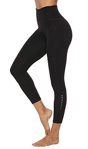 JOYSPELS Leggings Damen, Sporthose Lang Sport Leggins für Damen Yogahose Sportleggins, Schwarz, S=DE36