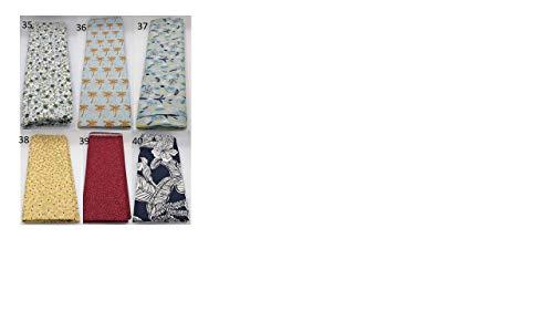 Stoffpaket Ranken verschiedene Größen Baumwolle Stoffreste Webware Patchen Patchwork Baumwollstoff Restepaket Blätter grau pastell mint mintgrün türkis blau rot
