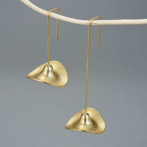 THTHT Vintage lange oorbellen van sterling zilver S925 dames strohoed elegante Chinese stijl high-end cadeau lange oorbellen Goud