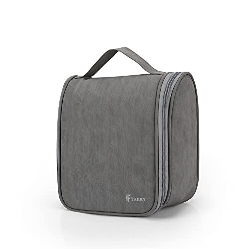 Beauty Case da Viaggio Impermeabile|Donna Uomo Borsa da Toilette Beauty Case Grande Impermeabile, Gancio in Metallo per Appendere|Borsa da Viaggio Cosmetica Wash Bag