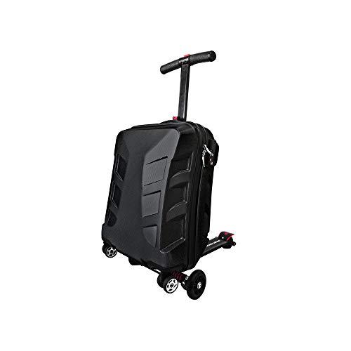 旅先や仕事、空港や駅で急ぎたい時!キャリーケースがキックボードに大変身!【SUITCASE SCOOTER:スーツケース・スクータ:ブラック】