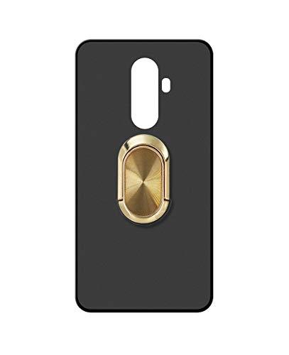 Sunrive Kompatibel mit DOOGEE BL12000 Hülle Silikon, 360°drehbarer Ständer Ring Fingerhalter Fingerhalterung Handyhülle matt Schutzhülle Etui Hülle (A4 Golden) MEHRWEG
