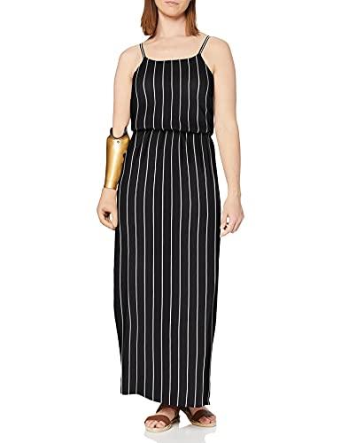 ONLY Damen onlBERA Back LACE UP S/S Dress JRS NOOS Kleid, Mehrfarbig (Black Stripes: Cloud Dancer), 42 (Herstellergröße: XL)