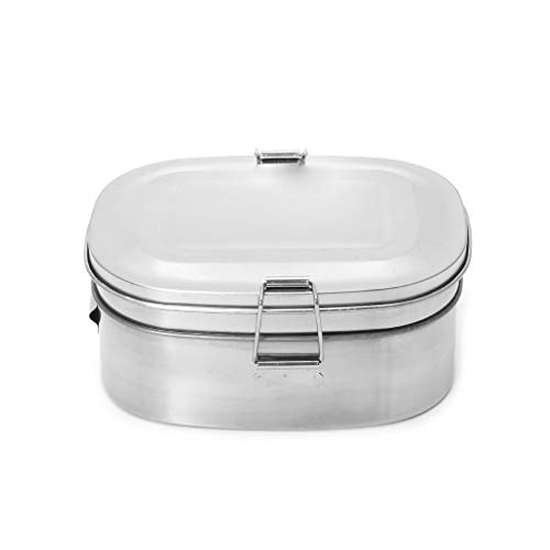 Lunji Boîte à Repas INOX Bento Lunch Box Voyage (2 Couche S)