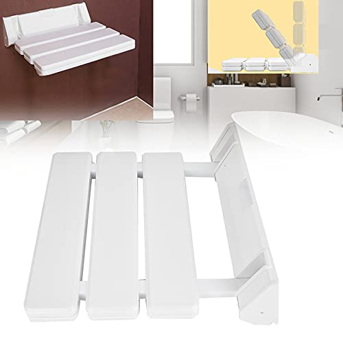 Asiento de ducha de hoja abatible, taburete de ducha plegable, silla de ducha de pared, taburete de pared plegable, taburete de seguridad para ducha para personas mayores, asiento de ducha plegable