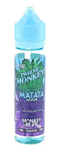 Twelve Monkeys E-Liquid Short Files 50ml Vape Juice e flüssig Flavors die shisha 0MG Nikotinfrei (Matata Iced)