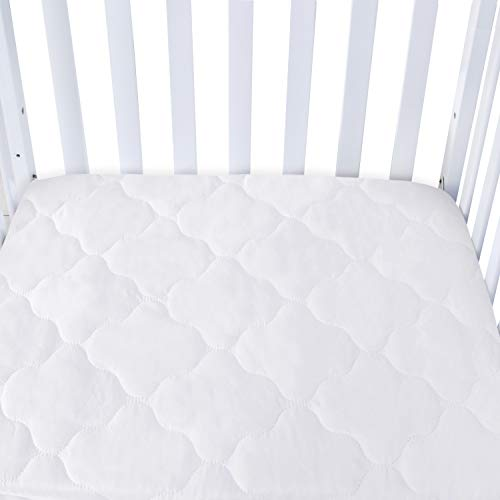 Waterproof Cot Mattress Protector Quilted Mattress Cover for Toddler Cot Bed 70x140cm
