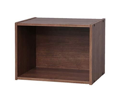 Marca Amazon - Movian Estantería 1 compartimento de madera MDF, Marrón, 41.5 x 29 x 30.5 cm, Marrón (Roble marrón)