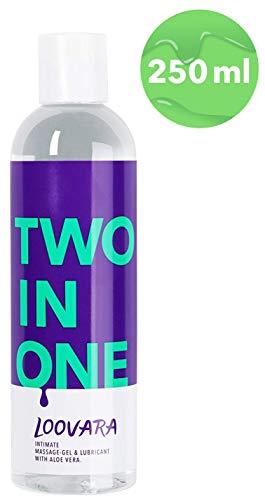 Loovara TWO IN ONE – 2 in 1, pflegendes Massage-Öl und Gleitgel in einem   mit Aloe Vera   natürliche Inhaltsstoffe, absolut duftneutral   für Vorspiel, Sex und Toys geeignet   dermatologisch getestet