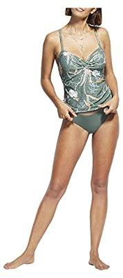 Seafolly Women's DD Twist Front Tankini Top Swimsuit, Balinese Retreat OliveLeaf, 6 US