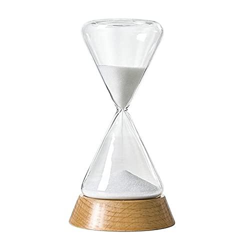 FHSMRING Temporizador de 15/30 minutos, reloj de arena, reloj de arena creativo, reloj de arena, decoraciones para el hogar, escritorio, temporizadores (color: 30 minutos, tamaño: China)