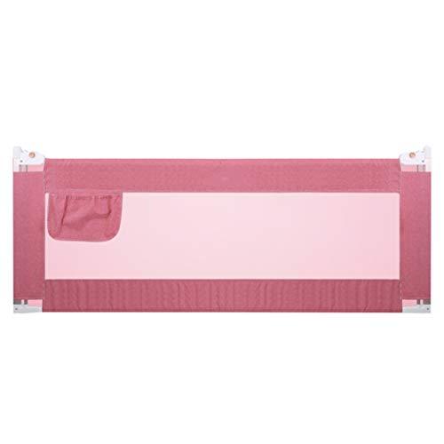 Barrières de lit Rails de lit de 120 cm pour Les Enfants en Bas âge, très Grande Garde de sécurité réglable pour lit de sécurité pour bébé de 67 à 90 cm de Hauteur (Couleur : Pink)