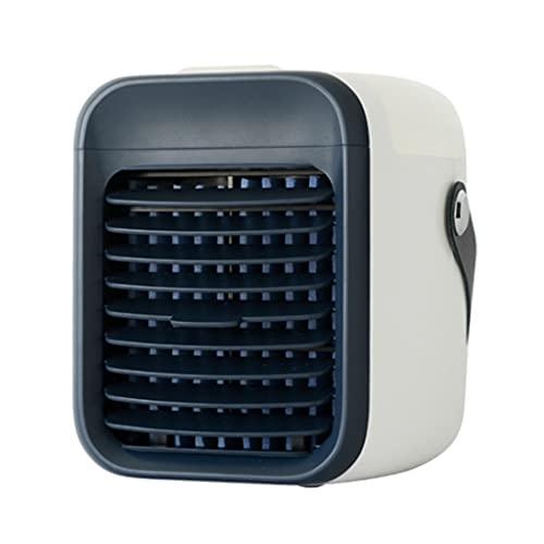 SLSFJLKJ Mini USB Portable Air Cooler Air Air Air Condizionatore Light Desktop Air Raffredding Fan Air Umidificatore (Color : Black)