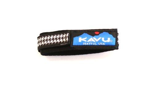 KAVU Patterned Watchband, Black, Large/ 8.5-Inch
