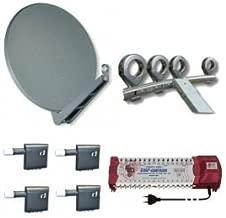 Gibertini se 100cm alu Sat antena + Gibertini 4compartimento Feed plana + 4x Inverto Multi de OPP Quattro LNB + EMP ProfiLine múltiple 17/16