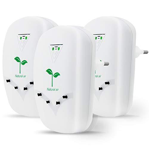 Tailiqi Luftreiniger,Air purifier für Zuhause,Mini Luftreiniger mit Lonen Generator für Zuhause Schlafzimmer Büro Küche Toilette,Haustiergeruch Zigarettenrauchgeruchsentferner (3 Packungen)