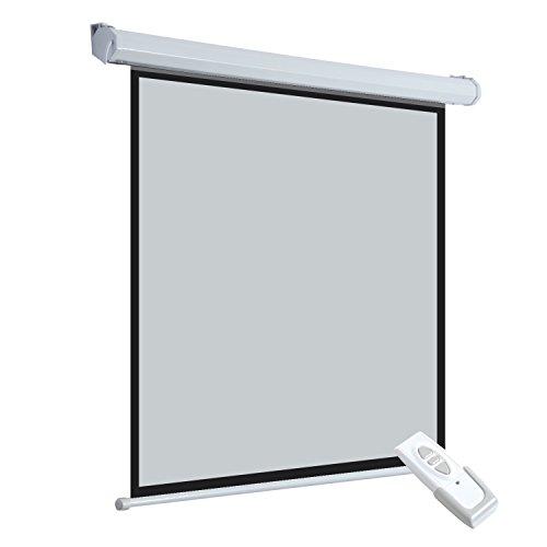 Ecran de projection motorisé home-cinéma format 4:3 84 pouces 171L x 128H cm blanc