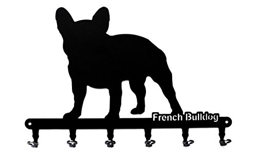 steelprint.de Key Holder - French Bulldog - Beautiful Key Hook for Wall - 6 Hooks