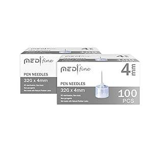 buy  MedtFine Insulin Pen Needles 32G 4mm (5/32″) ... Diabetes Care