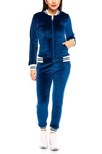 Crazy Age Nicki Anzug |Velvet | Mikrofaser Anzug feine Qualität | Warm und Kuschelig | Sportanzug aus Samt (Nicki, Velvet) Wohlfühlen mit Style (Nevi, S~34/36)