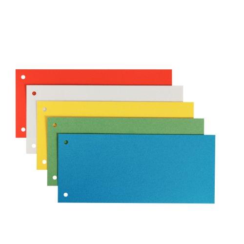 Leitz Trennstreifen aus Karton, 1/3 A4, 25 Stück, Mehrfarbig, 100% Recyclingkarton, 16796099