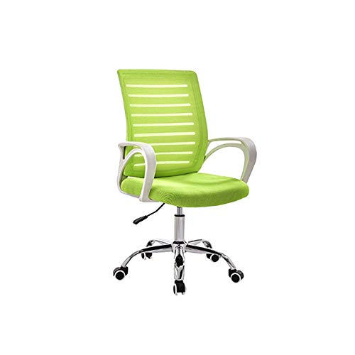 DALIBAI Mesh Work Chair in Green, Reception Desk Chair, Office Work Chair for Standing Desks with Arm