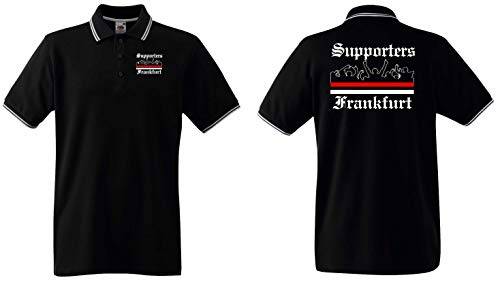 world-of-shirt / Frankfurt Herren Polo-Retro Supporters Ultras