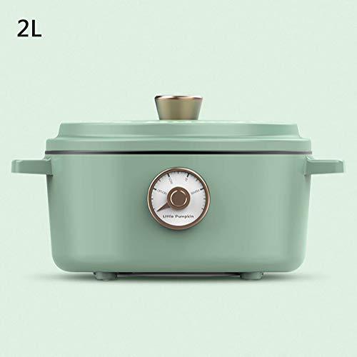 Haut de gamme Retro Mini mijoteuse Liners Teflon antiadhésive conception multi-fonctionnelle Crock Pot réchaud 2L,Vert