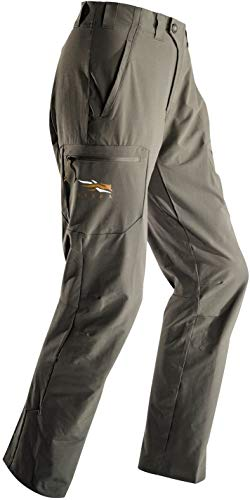 SITKA Gear Men's Ascent Softshell Articulated Hunting Pant, Pyrite, 30 Regular