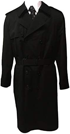 Newport Harbor 46 Long Double Breasted USA Made Rain Trench Coat 46L Black