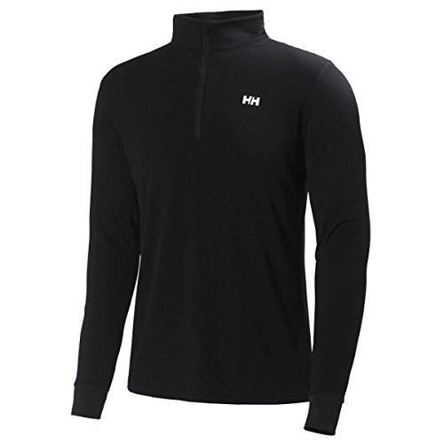 Helly Hansen Active Flow T-Shirt première Couche 1/2 Zip Homme, Noir/Noir, FR : L (Taille Fabricant : L)