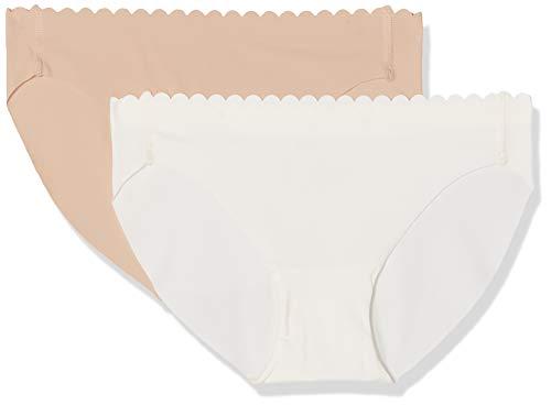 Dim Slip Body Touch Microfibre X2 Braguita, Multicolor (Nacre/New Skin 5hc), 40 (Talla del Fabricante: 40/42) (Pack de 2) para Mujer