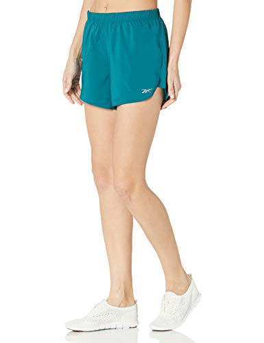 Reebok - Pantalón Corto para Mujer, Running Essentials - Pantalón Corto de 10,16 cm, Mujer, Color Heritage Verde Azulado, tamaño Small