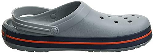 Crocs Crocband Unisex Adulta Zuecos, Gris (Light Grey/Navy), 41/42 EU