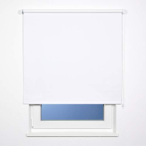 plimotion Fensterrollo, Hochwertiges Seitenzugrollo, 80x180 cm, Weiß