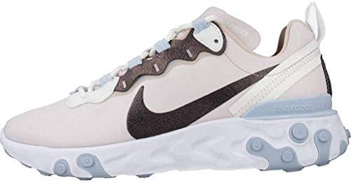 Nike React Element 55 SE, Running Shoe Womens, Rosado Ligero/Blanco Cumbre/Piedra Fósil