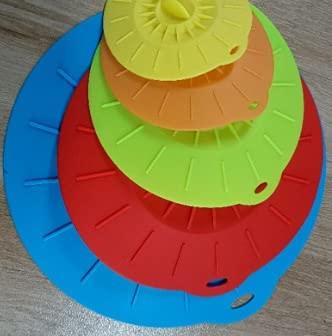 5 unids/Set Universal Silicone Sucion Tapa Easy Aspirum Sello Sealer Seller Bowl Can Poder Caps Cubierta Cocina Utensilios de Cocina Accesorios (Color : 1 Set)