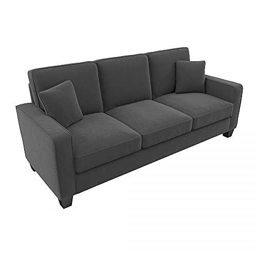 Bush Furniture Stockton Sofa, 85W, Charcoal Gray Herringbone