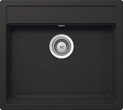 SCHOCK Küchenspüle 49 x 51 cm Nemo N-100S Onyx - CRISTALITE dunkelgraue Granitspüle ab 50 cm Unterschrank-Breite